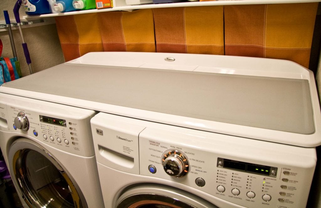 Work surface for washer and dryer - Meet The 1 2 3 Worksurface Made By Whirlpool It Fits Right Over My Lg W D And Does Exactly What I Want It To Do