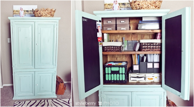 """some ... - Ikea Expedit """"built-in"""" Desk & The Turquoise Workhorse Office +"""