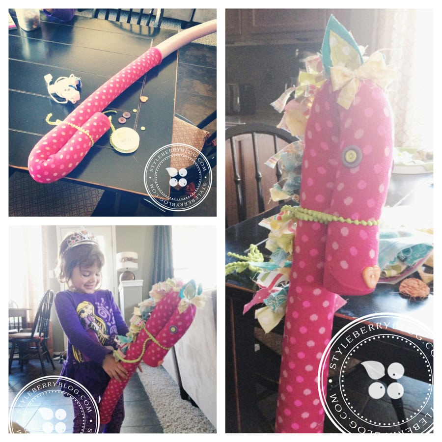 DIY Pool Noodle Stick Horse